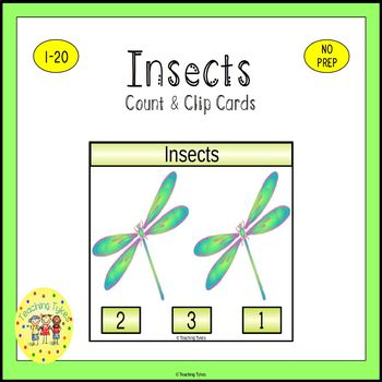 Insects Count and Clip Task Cards