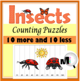 10 More 10 Less - Insects Number Puzzles