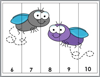 Insects Math - Numbers Puzzles 1-10