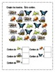 Insect theme Counting worksheets in French