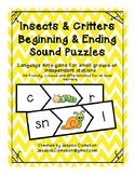 Insects & Critters Beginning & Ending Sounds Puzzles