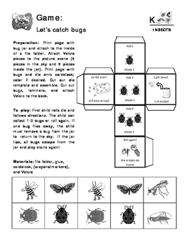 Insects - Curriculum‐Based Language Enrichment Worksheets & Activities