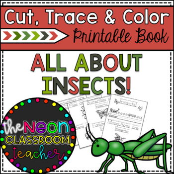 """""""Insects"""" Cut, Trace & Color Printable Book!"""