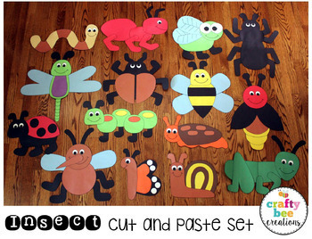 Insect Cut and Paste Set