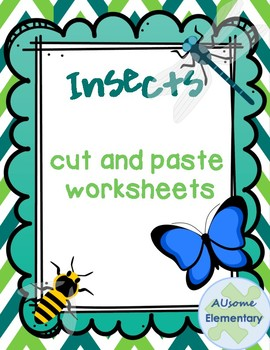 Insects-Cut and Paste worksheets