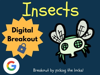 Insects - Digital Breakout! (Escape Room, Scavenger Hunt)