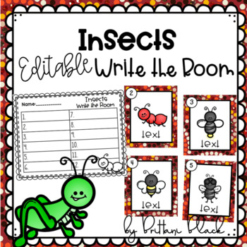 Insects- Editable Write the Room