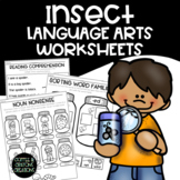 Insects English Language Arts No Prep Printable Worksheets
