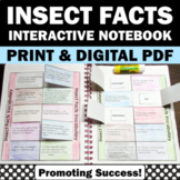 Bugs and Insects Activities 4th 5th Grade Science Interactive Notebook + Quiz