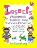 Insects - Filled with Common Core Math, Literacy and Science