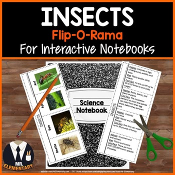 Insects Interactive Notebook Flip-O-Rama