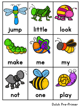 Dolch Word Fluency:  Time Me!  BUGS!