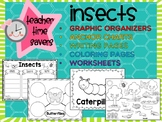 Insects SET 1: Graphic Organizers, Anchor Charts, Worksheets, Coloring, Posters