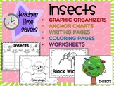 Insects SET 2 : Graphic Organizers, Anchor Charts, Worksheets, Coloring, Posters