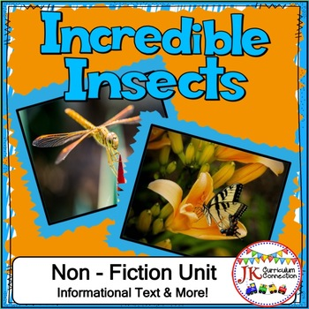 Insects Non-fiction Unit for 1st & 2nd Grade