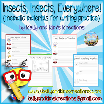 Insects, Insects Everywhere (thematic materials for writing practice)