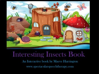 Insects Interactive Book (NO PRINT) and Flashcards.