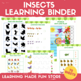 Insects Learning Binder Preschool Worksheets Insect Kinder