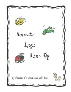 Insects Logic Line Up   NO PREP Common Core