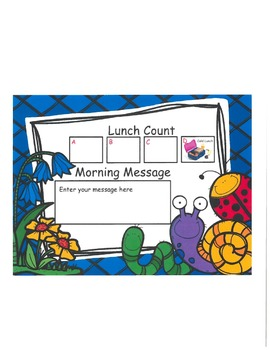Insects Lunch Count and Morning Message