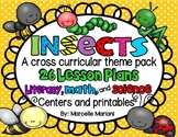 Insects worksheets and lesson plans in ELA, Math, Science and center activities