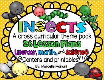 Insects MEGA THEME PACK: ELA, Math, Science Lesson Plans,