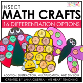 Insects Math Crafts | Ladybug, Bumblebee, & Dragonfly Math Activities