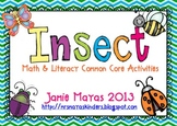 Insects Math & Literacy Common Core Activities
