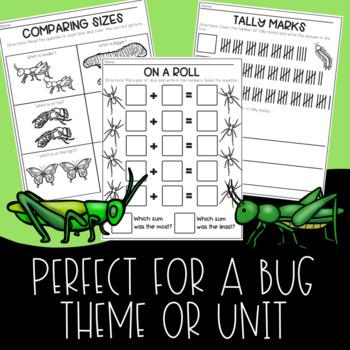 Insects Math No Prep Printable Worksheets