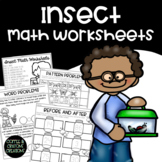 Insects Math No Prep Printable Worksheets