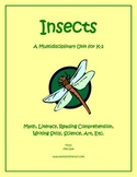 """Insects"" Math and Literacy Unit - Aligned with Common Cor"