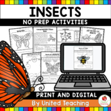 Insects No Prep Activities (Distance Learning)