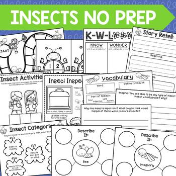 Insects No Prep Speech & Language Unit