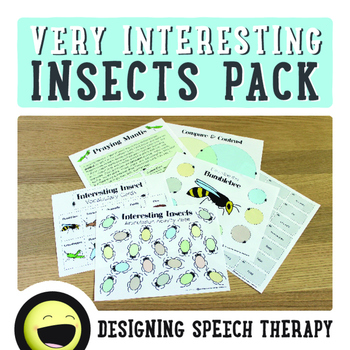 Insects Speech & Language Pack