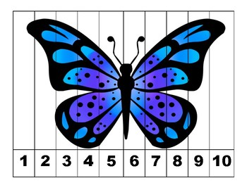 Insects Number Puzzles 1-10
