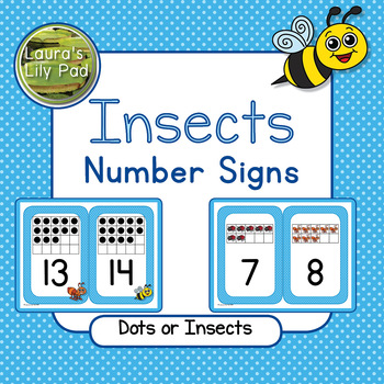 Insects Number Signs