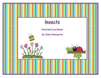 """Insects"" Predictable Easy Reader"