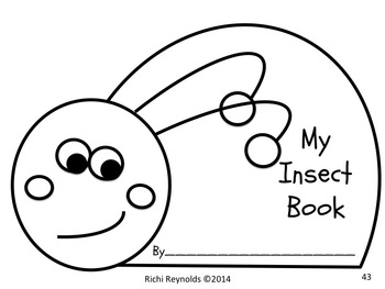 Insects: Read, Write, Color and Draw