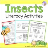 All About Insects Literacy Activities