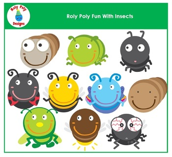 Insects Roly Poly Buddies Clip Art by Roly Poly Designs