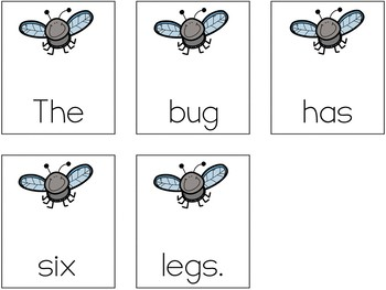 Insects: Scrambled Sentences (Writing Station Activity)
