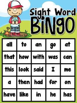 Bug Inspectors (Insect) Sight Word Bingo