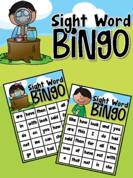 Bug Inspectors (Insect) Sight Word Bingo