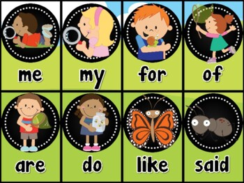Insects Sight Word Card Game