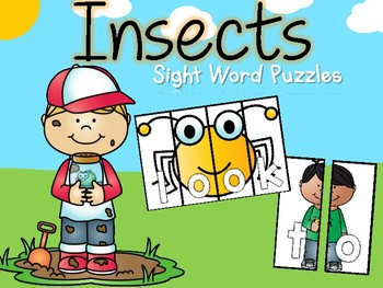 Insects Sight Word Puzzles