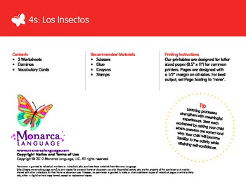 Insects Spanish Lesson (4s) - Los Insectos
