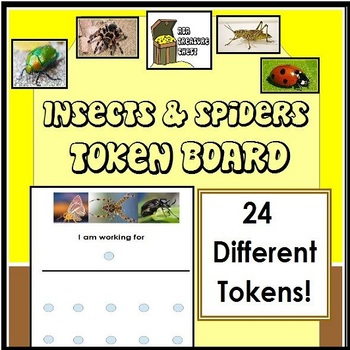 Insects & Spiders Token Board Autism ABA