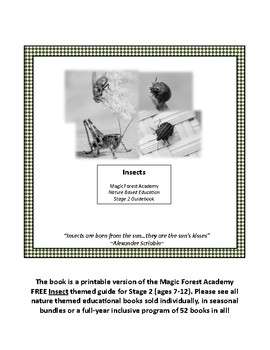 Insects Stage 2 Printable (B/W) FREE MagicForestAcademy