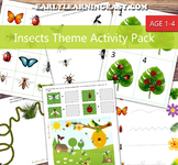 Insects Theme Activity Pack