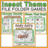 Insects File Folder Games: Antonyms, Ant Anatomy, Name the Bug